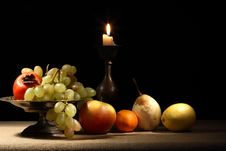 Free Fruits And Candle Stock Image - 28185441