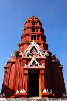 Free Red Pagoda In Wat Phra Kaeo Royalty Free Stock Photo - 28187895