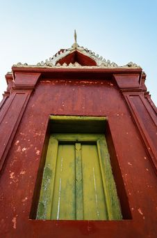 Free Window Of Red Pagoda Stock Photos - 28187913