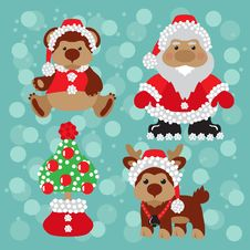 Free Santa With Teddy Royalty Free Stock Photos - 28188198
