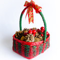 Free Christmas Basket Royalty Free Stock Images - 28192239