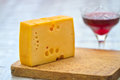 Free Emental Cheese And Wine Stock Photos - 28192823