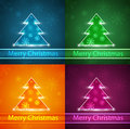 Free Neon Christmas Tree Stock Images - 28193034