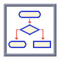 Free Cubes Pixel Image Of Flowchart Icon In Frame Stock Photo - 28193430