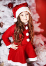 Free Little Girl Dressed As Santa Claus Royalty Free Stock Image - 28194436