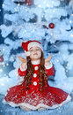 Free Little Girl Dressed As Santa Claus Royalty Free Stock Image - 28194866