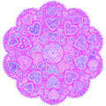 Free Ornamental Round Hearts Pattern In Indian Style Stock Photo - 28195030