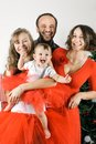 Free Happy Christmas Family Royalty Free Stock Images - 28195319