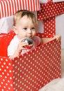 Free Christmas Baby Girl Stock Image - 28195381