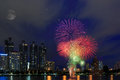 Free Fireworks Over Building Cityscape, Stock Image - 28196961