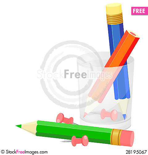 Free Background With Pencils Royalty Free Stock Photography - 28195067