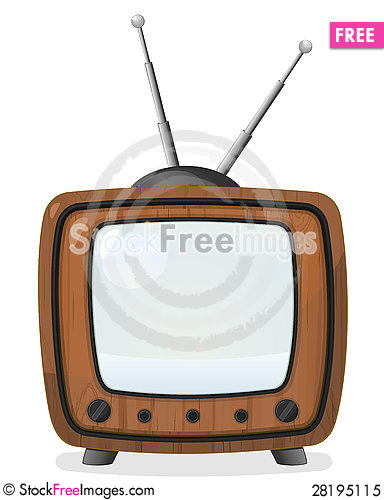 Free Retro Wooden TV Set Royalty Free Stock Photo - 28195115