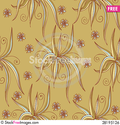 Free Seamless Texture With Aloe Royalty Free Stock Image - 28195126