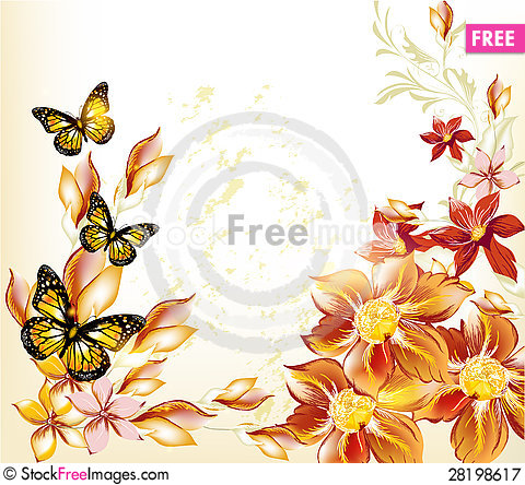 Free Abstract Floral Pastel Background Royalty Free Stock Photography - 28198617