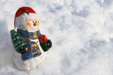 Free Snowman Figurine Stock Photo - 28190710