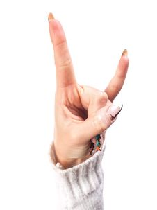 Free Hand Victory Sign Royalty Free Stock Photos - 28191538
