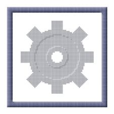 Free Cubes Pixel Image Of Gray Cogwheel In Frame Stock Photo - 28193420