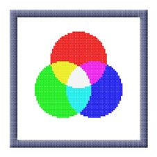 Free Cubes Pixel Image Of RGB Color Settings Icon Stock Photos - 28193463