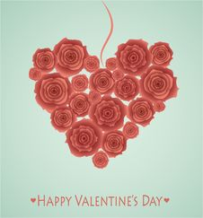 Free Heart From Red Roses. Stock Photos - 28193543