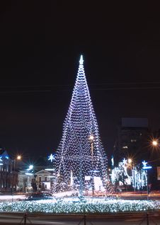 Free Christmas Tree In Bucharest Stock Photo - 28194360