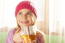 Free Child Drinking Tea Stock Photo - 28194600