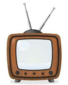 Free Retro Wooden TV Set Royalty Free Stock Photo - 28195115