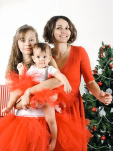 Free Happy Christmas Family Stock Photos - 28195273