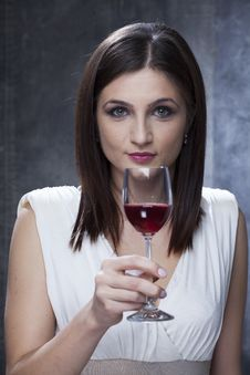 Free Adult Tasting Wine Royalty Free Stock Image - 28197036
