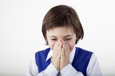 Free Sick Boy Suffering Stock Photography - 28197162