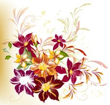 Free Abstract Background With Flowers Stock Photography - 28198542