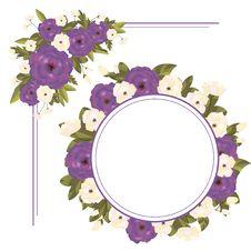 Free Set Of Floral Frames Stock Image - 28199261