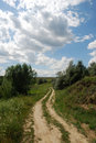 Free Road In Green Meadows Stock Photography - 2820252