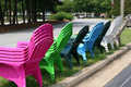 Free Colored Chairs For Sale Stock Photography - 2826632