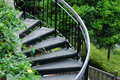 Free Curved Wooden Stair Case Royalty Free Stock Photography - 2829957