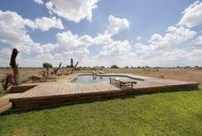 Pool On Desert Stock Photos