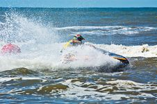 Free Extreme  Jet-ski Watersports Stock Photography - 2820402