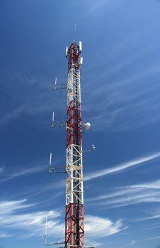 Antenna Of Telecomunications Stock Photography