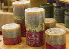 Set Of Colorful Candles Stock Image