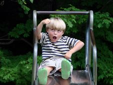 Young Boy Playing Royalty Free Stock Photography