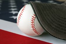 Free American Baseball And Cap Stock Image - 2824101