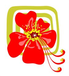 Free Red Stylized Flower Stock Photography - 2824772
