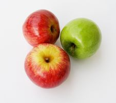 Free Three Apples From Above Royalty Free Stock Image - 2824776