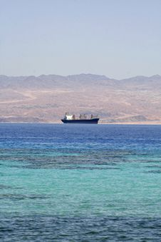 Free Cargo Ship On The Red Sea Stock Images - 2825544