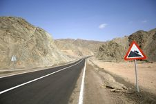 Free Desert Road In The Red Sea Stock Image - 2825791