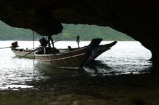 Free Boats In A Cave Stock Photography - 2826862