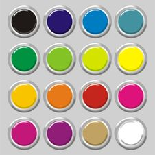 Free Colored Buttons Stock Images - 2827454