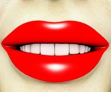Free Red Lipstick Lady 3 Stock Photos - 2829573