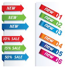 Free Colorful Arrows And Labels. Stock Images - 28200444
