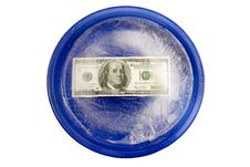 Money With Freezer Burn On A Plate - XXXL Stock Photos
