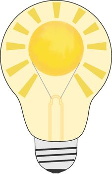 Free Light Bulb With Sun Inside Royalty Free Stock Images - 28207219
